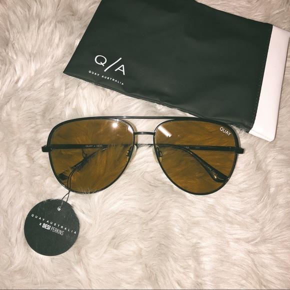 9d51ef4c63 NWT QUAY X DESI Sahara Sunglasses
